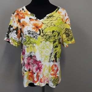 Christopher & Banks floral top size Petite Large